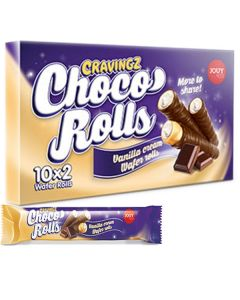 Cravingz Choco Rolls Vanilla Cream 10-pack