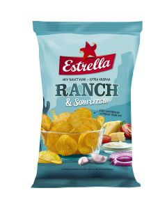 Estrella Ranch & Sourcream chips 175g