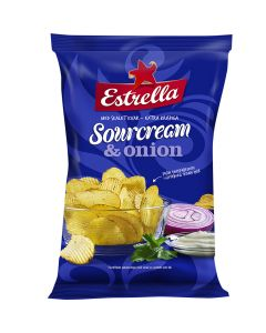 Estrella Sourcream & Onion chips 175g