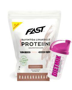 Fast Natural Protein 500 g kakao + Shaker på köpet!