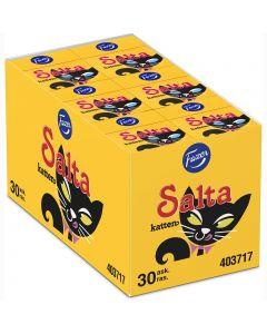 Fazer Salta Katten salmiakpastiller 24g x 30st