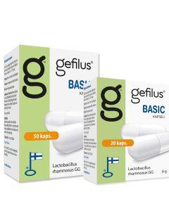 Gefilus Basic Mjölksyrabakterier (50 + 20 kapslar)