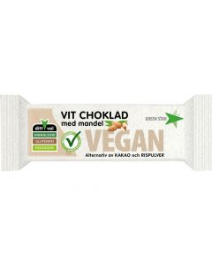 Green Star Vit choklad med mandel 40g