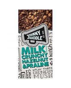 Johnny Doodle Milk Crunchy Hazelnut & Praline chokladkaka 150g