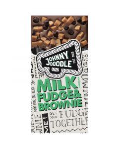 Johnny Doodle Milk Fudge & Brownie chokladkaka 150g