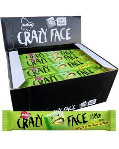 Malaco Crazy Face Sour Apple 34g x 24st