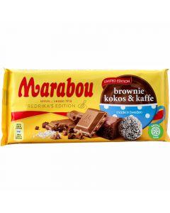 Marabou Brownie, Kokos & Kaffe Limited Edition chokladkaka 185g
