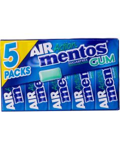 Mentos Air Action Menthol-Eucalyptys tuggummi 5-pack