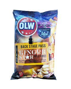 OLW Backstage Pass Ginger & Mild Chili potatischips 250g