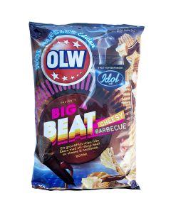 OLW Big Beat Cheesy Barbeque potatischips 250g