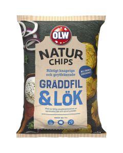 OLW Naturchips Gräddfil & Lök 150g