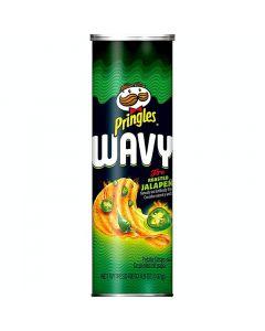 Pringles Wavy Fire Roasted Jalopeno potatischips 137g