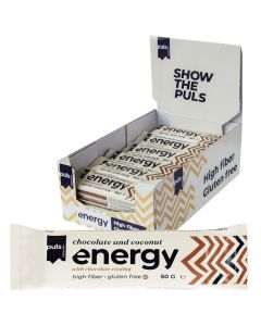 Puls Energy Chocolate and Coconut protein bar 50g x 24st