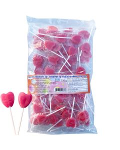 Lollipops with strawberry flavour 700g