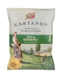 Taffel Herrgårds Dill & Gräddfil potatischips 50g