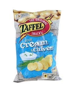 Taffel Sourcream & Chives chips 210g