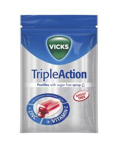 Vicks Triple Action sockerfri pastill med zink och C-vitamin 72g