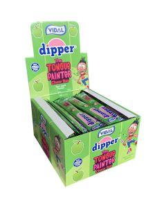 Vidal Dipper Tongue Painter Sour Apple chew bar 100st