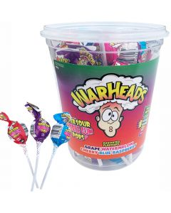 Warheads Bubble Gum Sour Lollipop 21st (400g)