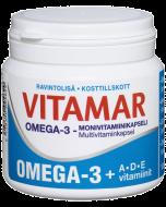 Vitamar Omega-3 + ADE-vitaminer 100 kaps