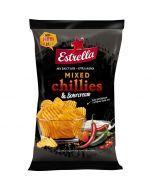 Estrella Mixed Chillies & Sour Cream potatischips 175g