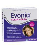 Evonia Keratin + Biotin Keratin-B-vitamin-kopparkapsel (60 kaps)