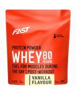 Fast Whey80 vassleproteinpulver vanilj 500g