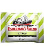 Fisherman's Friend Citrus & Menthol sockerfri, Låda ( 24 st x 25g )
