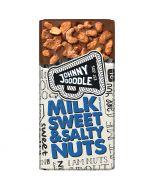 Johnny Doodle Milk Sweet & Salty Nuts chokladkaka 150g