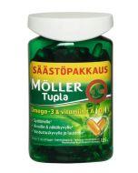 Möller Tupla Ekonomipack Omega-3 & vitaminer A,D,E 150 kaps