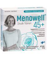 Menowell 45+ (60 tabl), Tribulus terrestris - linextrakt - sojaisoflavontablett