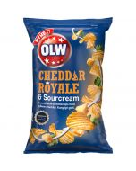 OLW Cheddar Royale & Sourcream chips 175g