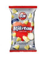 OLW Hjärtan Ost & Lök majssnacks 100g