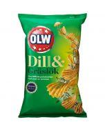OLW Dill & Gräslök chips 175g