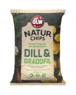 OLW Naturchips Dill & Gräddfil 150g