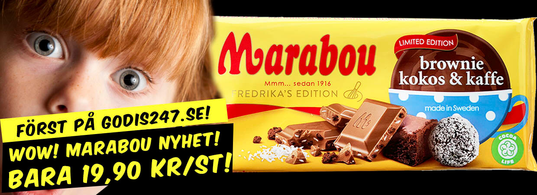Marabou Brownie Kokos Kaffe chokladkaka
