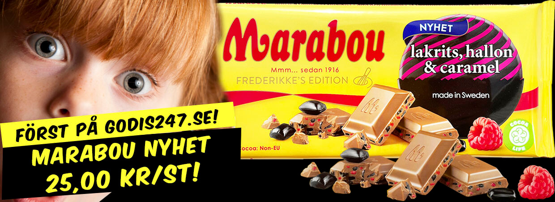Marabou Lakrits, Hallon & Caramel chokladkaka 185g